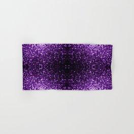 Beautiful Dark Purple glitter sparkles Hand & Bath Towel