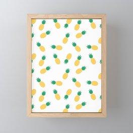 PINEAPPLE ANANAS FRUIT FOOD PATTERN Framed Mini Art Print