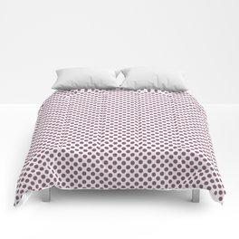 Grape Nectar Polka Dots Comforters