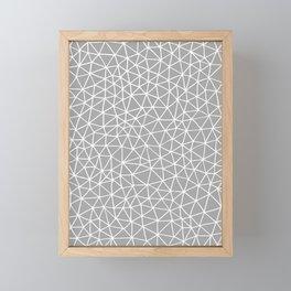 Connectivity - White on Grey Framed Mini Art Print