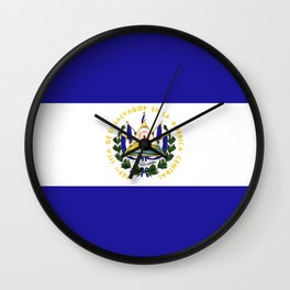 El Salvador flag emblem Wall Clock