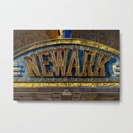 Newark sign - Art Deco Metal Print