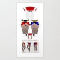 Harley Quinn Suicide Squad Leggings and Shirt V2 Art Print