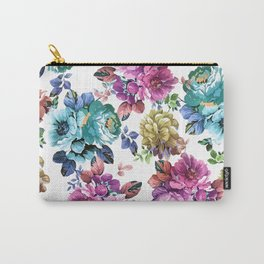 Fluorescent Roses Carry-All Pouch