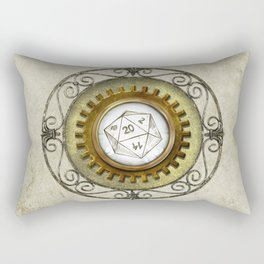 Steampunk D20 Vintage Rectangular Pillow
