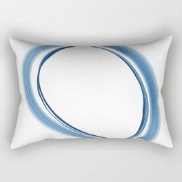 Twisty Blue Rectangular Pillow