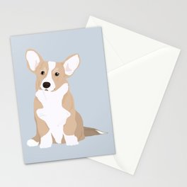 Dog Collection : Welsh Corgi _ blue Stationery Cards