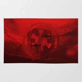 Imperial Fighters on Red Watercolor Rug