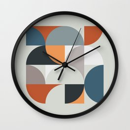 Mid Century Geometric 11 Wall Clock