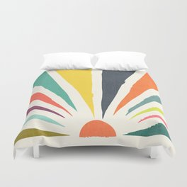Rainbow ray Duvet Cover