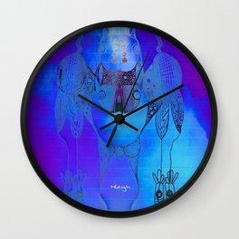 Tie Dye Scribble Wall Clock