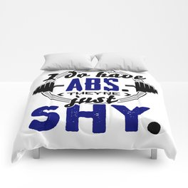 Shy Abs Fitness Workout Gym Training Design Comforters