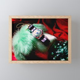 Time For Red And Green Stuff Framed Mini Art Print