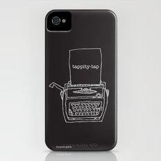 Vintage typewriter negative iPhone (4, 4s) Slim Case