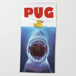 Pug Attack Beach Towel