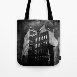 Under this threatening  sky every civilization dies Tote Bag