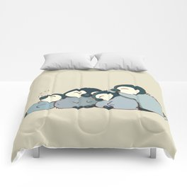 Pile of penguins Comforters