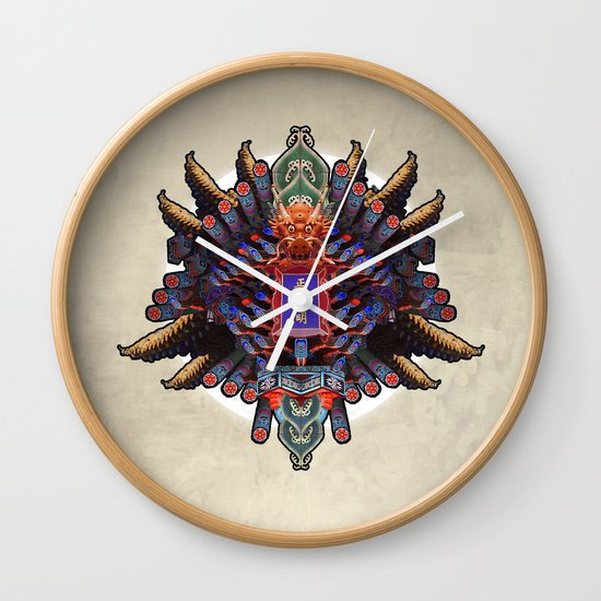 MIXING OF CHINESE FORM (01-fever) Wall Clock