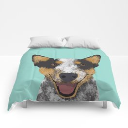 Australian Cattle dog must have gifts for cattle dog owners dog breed pet friendly unique dog art Comforters