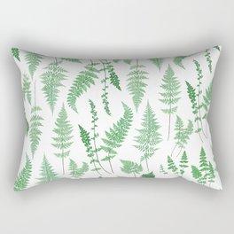 Ferns on White I - Botanical Print Rectangular Pillow