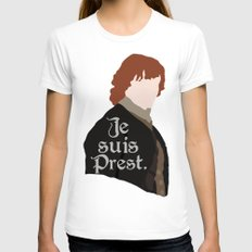 Jamie Fraser Quote MEDIUM White Womens Fitted Tee
