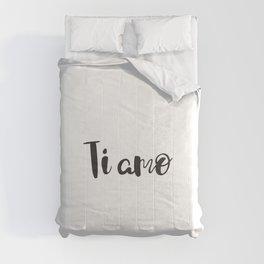 I Love You in Italian Comforters