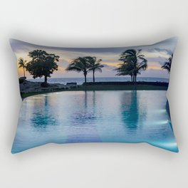 Poolside at Dawn Rectangular Pillow