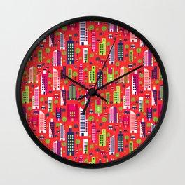 City of Colors Wall Clock