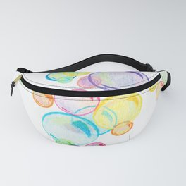 Rainbow Pastel Bubbles Floating Fanny Pack