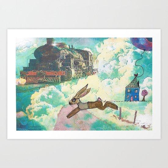 Run Bertie Art Print