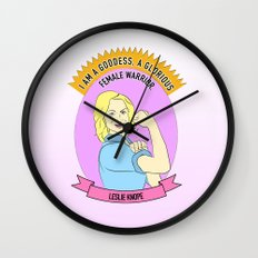 Leslie Knope - Godess Print Wall Clock