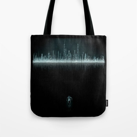 TRON CITY Tote Bag