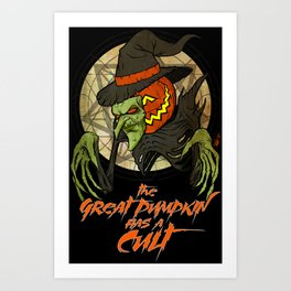 Cult of the Great Pumpkin: Witch Mask Art Print