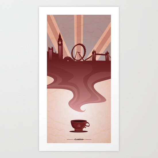 I Love London Art Print