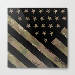 U.S. Flag: Military Camouflage Metal Print