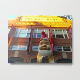 Gnome outside Fenway Park, home of the Boston Red Sox Metal Print