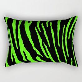 Green Tiger Stripes Rectangular Pillow