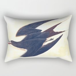 Sooty Tern John James Audubon Scientific Illustration Birds Of America Drawings Rectangular Pillow
