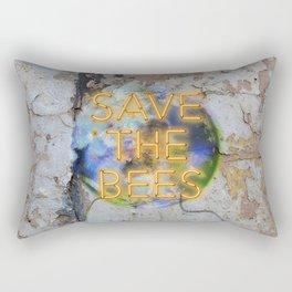Save the Bees - Neon Rectangular Pillow