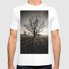 Tree in Winter Mens Fitted Tee White MEDIUM