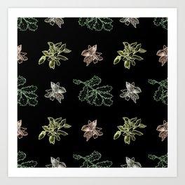 Quercus (black) Art Print