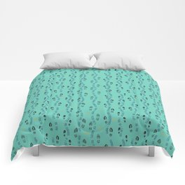 Positive Running Vibes on Turquoise Comforters