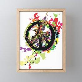 Peace & Peace Framed Mini Art Print