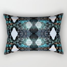 Trippy Texture Mud Cloth Modern Geometric Boho Batik Print Rectangular Pillow