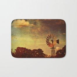 Rustic Vintage Windmill Bath Mat