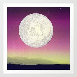 Those moon nights Art Print