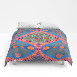Glowing Abstract Landscape Comforters