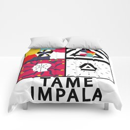 """Tame Impala Silhouette Faces """"Feels Like We Only Go Backwards"""" Comforters"""