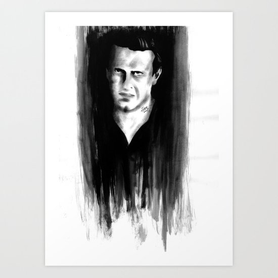 DARK COMEDIANS: Jason Segel Art Print