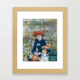 """Pierre Auguste Renoir """"Two Sisters"""" Framed Art Print"""